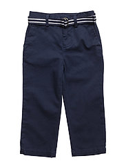 Belted Stretch Cotton Chino - FRENCH NAVY