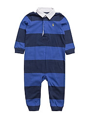 Striped Cotton Rugby Coverall - BARCLAY BLUE MULT