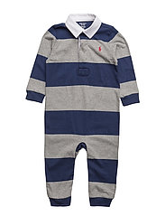 Striped Cotton Rugby Coverall - FRESHWATER MULTI