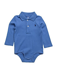 Cotton Interlock Polo Bodysuit - SCOTTSDALE BLUE