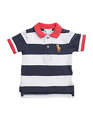Striped Cotton Mesh Polo Shirt - NEWPORT NAVY