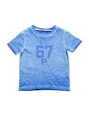 Cotton Jersey Graphic T-Shirt - NEW IRIS