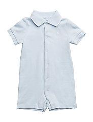 Cotton Interlock Polo Shortall - BERYL BLUE