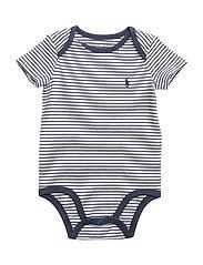 Striped Cotton Jersey Bodysuit - SUMMER NAVY/WHITE