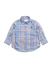 Plaid Stretch Cotton Shirt - LT BLUE MULTI