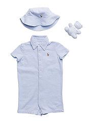 Shortall, Bear & Hat Gift Set - BLUE HYACINTH