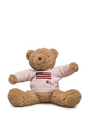 Flag-Sweater Plush Polo Bear - FRENCH PINK