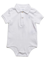 Cotton Interlock Polo Bodysuit - WHITE