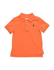 Cotton Mesh Polo Shirt - ELECTRIC MELON