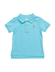 Cotton Mesh Polo Shirt - FRENCH TURQUOIS