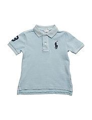 Cotton Mesh Polo Shirt - COASTAL BLUE