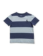 Striped Cotton Jersey Tee - NAPLES BLUE MUL