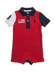 Cotton Mesh Polo Shortall - RL2000 RED