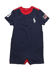 Color-Blocked Cotton Shortall - NEWPORT NAVY MU