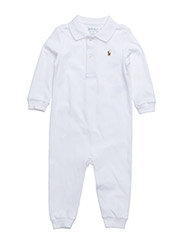 Pima Cotton Polo Coverall - WHITE