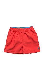 Hawaiian Twill Swim Trunk - RED REEF