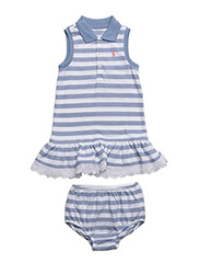 Striped Polo Dress & Bloomer - FRENCH BLUE/WHITE