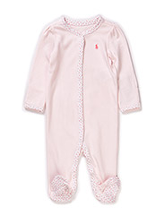GIRL SOLID COVERALL - DELICATE PINK