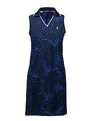 Palm-Print Polo Dress - PALM PRINT