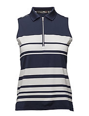 Sleeveless Polo Shirt - FRENCH NAVY/PURE