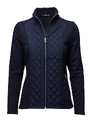 Ripstop-Wool Quilted Jacket - FRENCH NAVY