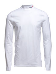 LS SLD MISC MOCK NK - PURE WHITE