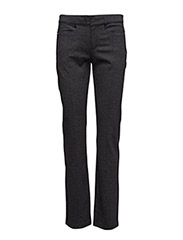 Cotton-Blend Straight Pant - ONYX HEATHER