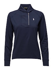SHAWL-COLLAR HALF-ZIP PULLOVER - FRENCH NAVY