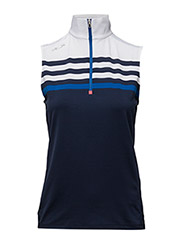 SLEEVELESS HALF-ZIP PULLOVER - FRENCH NAVY/SAP