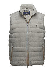 LT WT NYLON-PACKABLE DOWN VEST - GREY FOG
