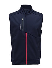 BONDED SOFTSHELL-FZ VEST - FRENCH NAVY