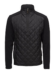 BRUSH BACK FLEECE-LSHZMN QUILT HYBR - POLO BLACK
