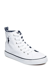 HARBOUR HI - WHITE CANVAS-NAVY