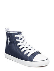 HARBOUR HI - NAVY CANVAS-WHITE
