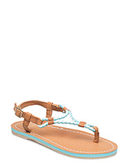 ALEXIS - NEON TUQUOISE W BRAIDED THONG