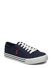 SLATER - NAVY CANVAS W/RED PP