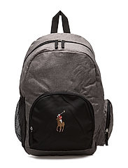 CAMPUS BACKPACK - GREY CHAMBRAY/BLACK/MULTI PP