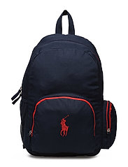 Campus Backpack - NAVY NYLON W RED