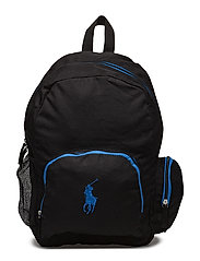 Campus Backpack - BLACK NYLON W ROYAL