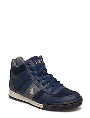 SPEED 67 MID ZIP - NAVY SUEDE W/CREAM PP