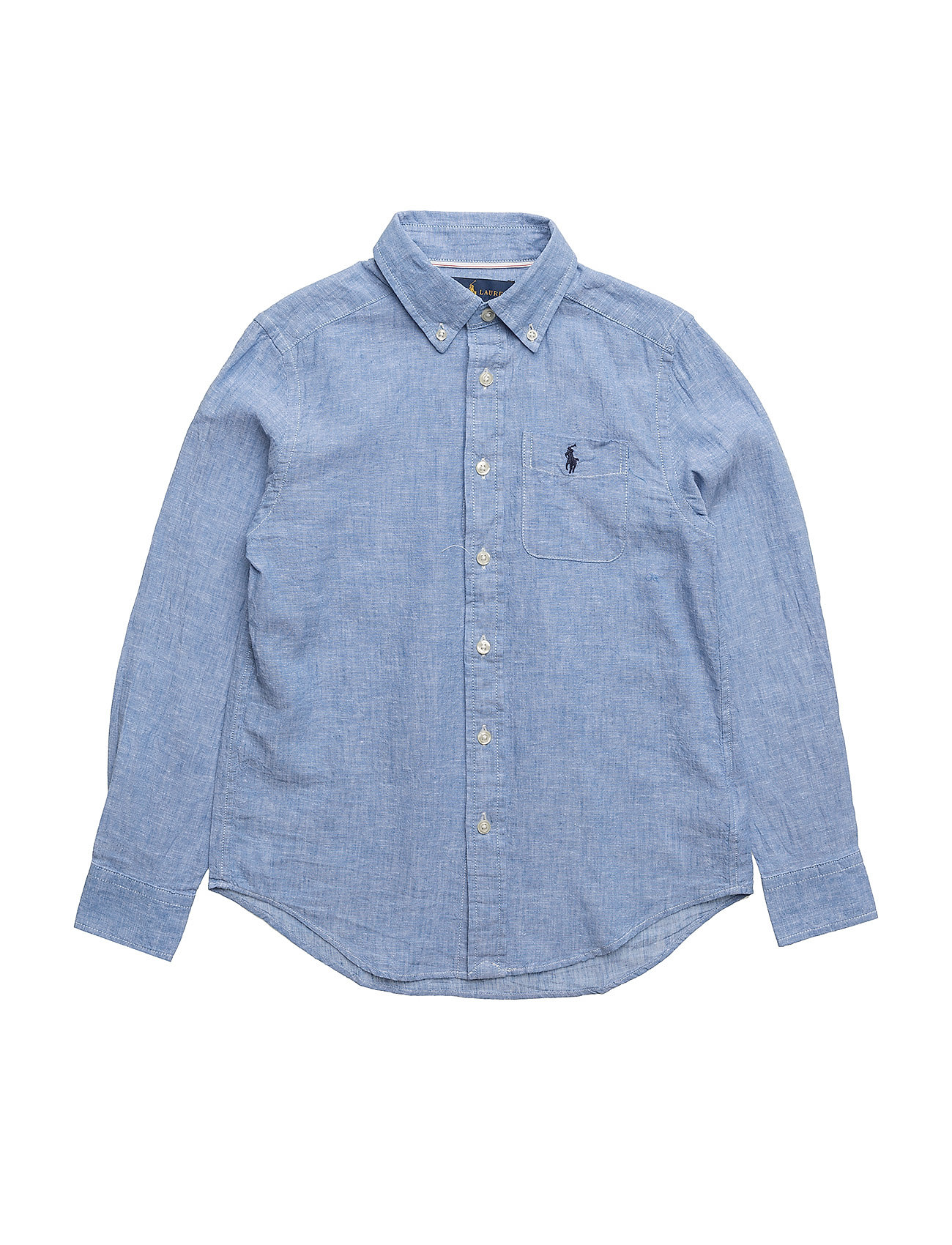 Linen cotton chambray shirt light blue 79 ralph for Chambray shirt for kids