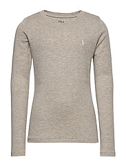 Cotton-Blend Long-Sleeve Tee - LIGHT SPORT HEATHER