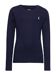 Cotton-Blend Long-Sleeve Tee - FRENCH NAVY