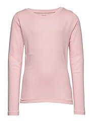 Cotton-Blend Long-Sleeve Tee - HINT OF PINK