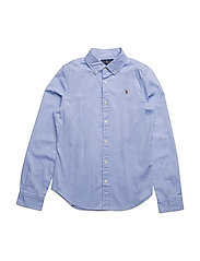 Cotton Oxford Shirt - BLUE HYACINTH