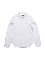 Cotton Oxford Shirt - WHITE