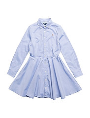 Cotton Oxford Shirtdress - BLUE HYACINTH