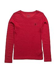 Cotton–Blend Crewneck Tee - PARK AVE RED