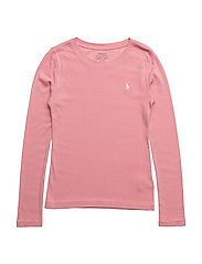 Cotton–Blend Crewneck Tee - RUGBY PINK