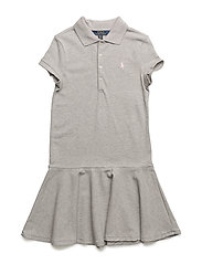 COTTON MESH-SS POLO DRS-DR-KNT - ANDOVER HEATHER